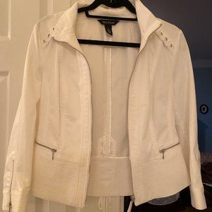 White House Black Market -White Moto Jacket/Blazer
